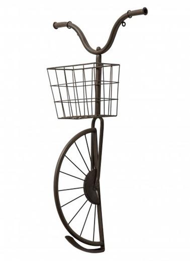 Warm Design Bisiklet Figürlü Duvar Dekoru Siyah